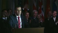 Politician Making Public Speech Stock Footage