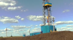 Drilling Rig On Drilling Site Stock Footage