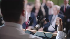Male Politician Delivering Speech Stock Footage