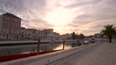 Sunset in Aveiro, Portugal Stock Footage
