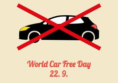 Poster for annual celebration of World Car Free Day - September 22 Stock Illustration