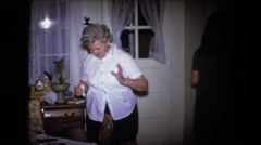 1973: birthday party celebration with family members FORT WAYNE, INDIANA Stock Footage