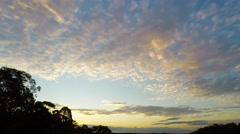 Spring Time Lapse Sunset Over River Valleys Australia  Stock Footage