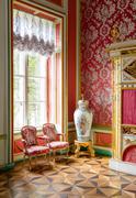 Interior of Kuskovo palace - Moscow museum Stock Photos