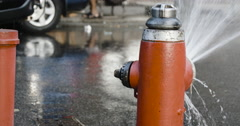 Fire Hydrant - summer - NYC - 4k Stock Footage
