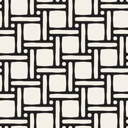 Vector Seamless Black and White Lattice Geometric Pattern Piirros