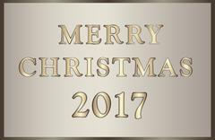 Christmas illustration  in golden-brown tones Stock Illustration