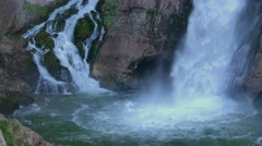 Savica waterfall in Slovenian national park Triglav Stock Footage