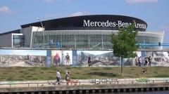Mercedes Benz Arena in Berlin Stock Footage