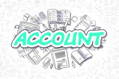 Account - Cartoon Green Inscription. Business Concept Stock Illustration