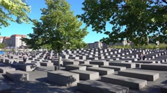 Memorial to the Murdered Jews of Europe - Holocaust memorial Berlin Stock Footage