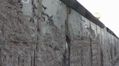 The remains of Berlin Wall - Berliner Mauer Memorial Stock Footage