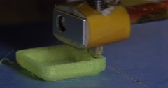 Making an object with 3D printer Stock Footage