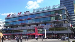 Europa Center in Berlin Charlottenburg at Kurfuerstendamm Stock Footage