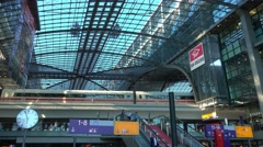 Amazing building of Berlin Central station Stock Footage