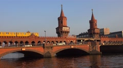 Famous Oberbaumbruecke Stock Footage