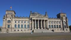 Federal Government Office - German Bundestag Reichtagsgebaeude in Berlin Stock Footage