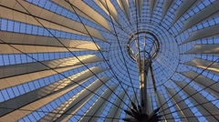 Modern and futuristic Sony Center in Berlin Stock Footage