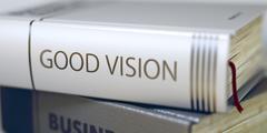 Good Vision Concept. Book Title. 3D Illustration Stock Illustration
