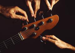 Five Strings Bass Guitar Stock Photos