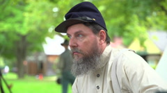 Shell shocked Civil War soldier Stock Footage