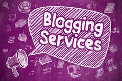 Blogging Services - Business Concept Stock Illustration