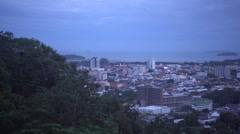 Viewpoint of Phuket from Range Hill, Thailand Stock Footage