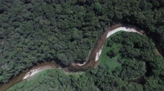 Aerial View of River in Rainforest, Brazil Stock Footage