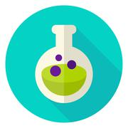 Flask with Poison Circle Icon Stock Illustration