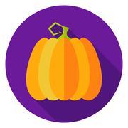 Halloween Pumpkin Circle Icon Stock Illustration