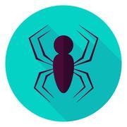 Spider Circle Icon Stock Illustration