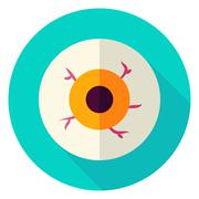 Spooky Eye Circle Icon Stock Illustration