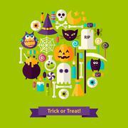 Trick or Treat Halloween Concept Stock Illustration