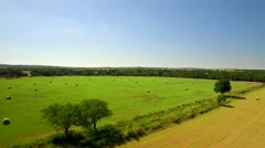 Aerial view of San Antonio farmland on a sunny day 4 Stock Footage