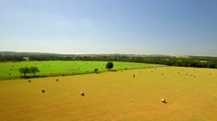 Aerial view of San Antonio farmland on a sunny day 3 Stock Footage