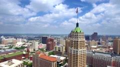 Aerial view of San Antonio skyline 5 Stock Footage