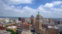 Aerial view of San Antonio skyline 3 Stock Footage