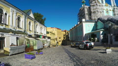 The historic streets of Kiev Stock Footage