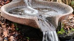 Water Flowing In Pattern Flow Form Fountain Stock Footage