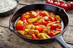 Chicken jalfrezi healthy traditional Indian culture restaurant meal curry spicy Stock Photos