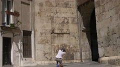 Elephant Tower in Cagliari, Sardinia. UHD footage Stock Footage