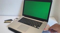 Crime Scene, Hacker Install Virus In Laptop, Dolly Shot Stock Footage