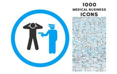 Arrest Rounded Icon with 1000 Bonus Icons Stock Illustration