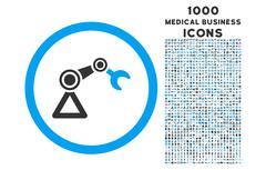 Artificial Manipulator Rounded Icon with 1000 Bonus Icons Stock Illustration