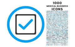 Checkbox Rounded Icon with 1000 Bonus Icons Stock Illustration