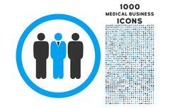 Clerk Staff Rounded Icon with 1000 Bonus Icons Stock Illustration