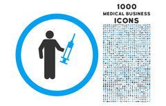 Drug Dealer Rounded Icon with 1000 Bonus Icons Stock Illustration