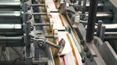 Printing machine at work 5 Stock Footage