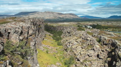 Thingvellir National Park in Iceland Stock Footage