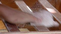 Sanding furniture Stock Footage